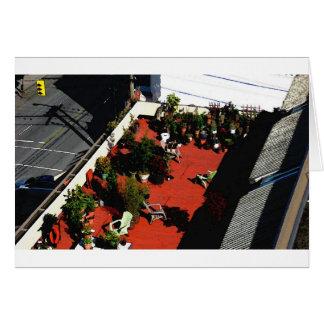Jardín del top del tejado de Robsonstrasse Tarjeta De Felicitación