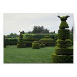 Jardín del Topiary, jardines de Longwood, Pennsylv Tarjetón