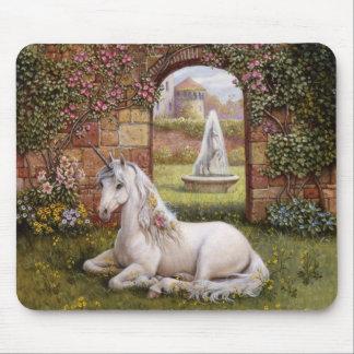 Jardín del unicornio tapete de raton