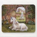 Jardín del unicornio tapetes de raton