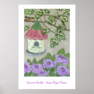 Jardín del verano póster