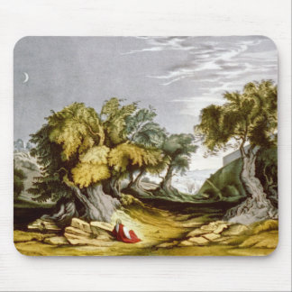Jardín del vintage del ejemplo 1846 de Gethsemane Alfombrilla De Ratón