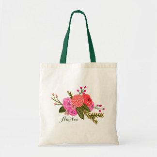 Jardín del vintage del personalizado el | bolsa tela barata