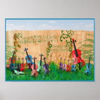 Jardín del violín póster