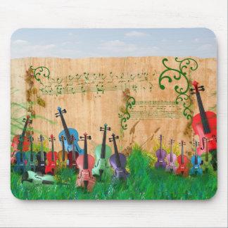 Jardín del violín tapetes de raton