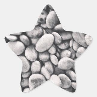 Jardín del zen de la roca pegatina en forma de estrella
