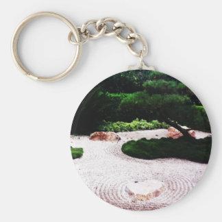Jardín del zen llavero redondo tipo pin