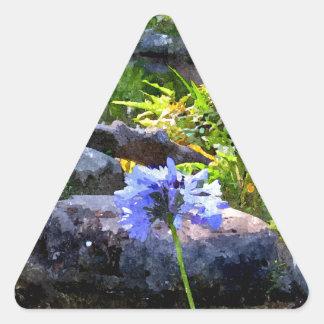 Jardín del zen pegatina triangular