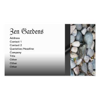 Jardín del zen que ajardina tarjetas de visita de