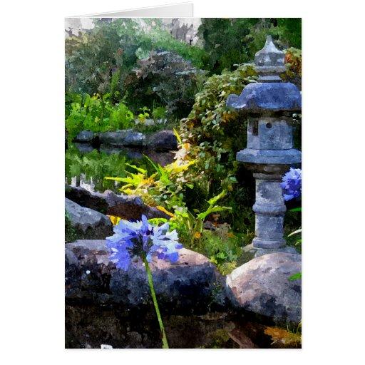 Jardín del zen tarjeta de felicitación