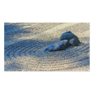 Jardín del zen tarjetas de visita