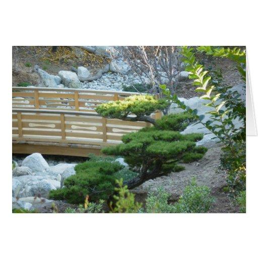 Jardín del zen tarjetón