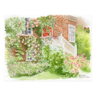 Jardín delantero inglés de la postal de la bella a