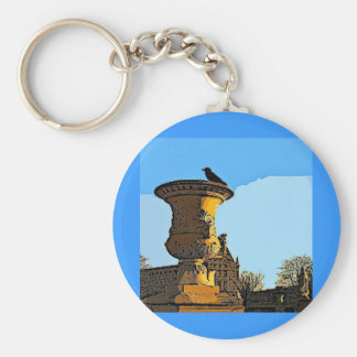 Jardin des Tuileries Crow - Painting Key Chains