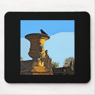 Jardin des Tuileries Crow - Painting Mouse Pad