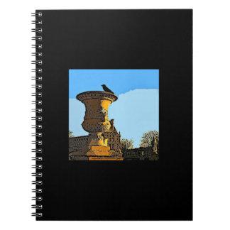 Jardin des Tuileries Crow - Painting Spiral Notebook