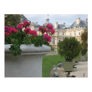 Jardin du Luxemburgo Tarjeta Postal