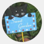 Jardín dulce pegatina redonda