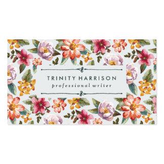 Jardín el | del vintage floral tarjetas de visita