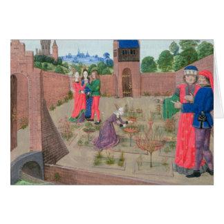 Jardín emparedado con cultivar un huerto de la muj tarjeta de felicitación