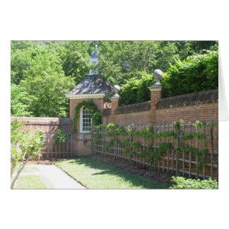 Jardín emparedado tarjeta de felicitación