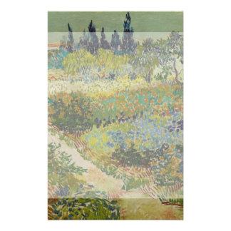 Jardín en Arles de Vincent van Gogh Tarjeta Publicitaria