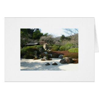 Jardín en blanco Card-1 del zen Tarjeta Pequeña