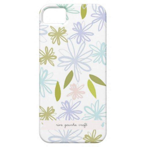 Jardín en colores pastel floral iPhone 5 Case-Mate cárcasas