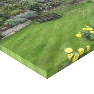 Jardín en el castillo de Windsor Impresion De Lienzo