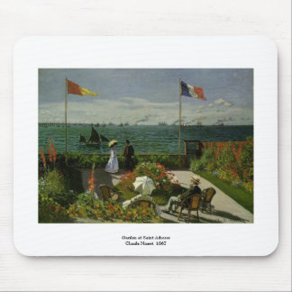 Jardín en el santo Adresse de Claude Monet Tapete De Ratones