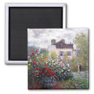 Jardín en Giverny por el imán de la bella arte de