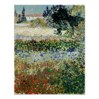 Jardín en la floración Arles 1888 Impresiones