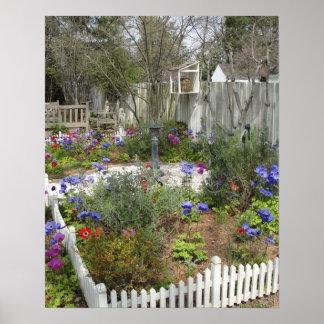 Jardín en la primavera 2 póster
