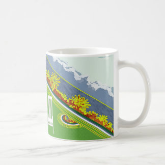 Jardín en la taza de las montañas