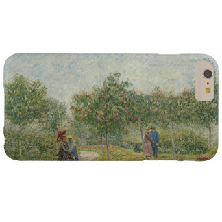 Jardín en Montmartre con los amantes de Van Gogh Funda De iPhone 6 Plus Barely There