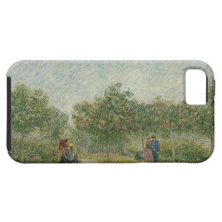 Jardín en Montmartre con los amantes iPhone 5 Case-Mate Fundas