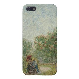 Jardín en Montmartre con los amantes iPhone 5 Protectores