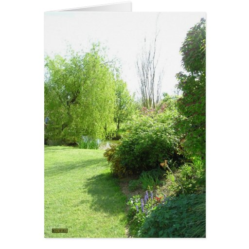 Jardin en primavera tarjeta de felicitación