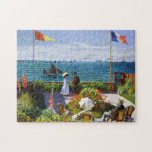Jardín en Sainte-Adresse, Claude Monet 1867 Rompecabezas Con Fotos