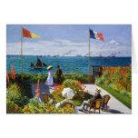 Jardín en Sainte-Adresse, Claude Monet 1867 Tarjeta Pequeña