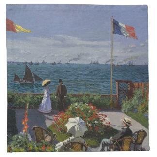 Jardín en Sainte-Adresse de Claude Monet Servilletas Imprimidas