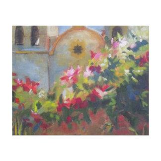 Jardín español de California de la misión de Impresiones En Lona
