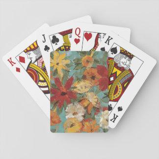 Jardín expresivo brillante cartas de póquer