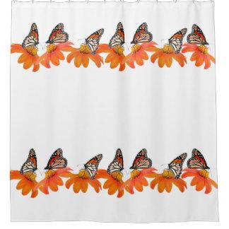 Jardín floral de la flor del girasol de las cortina de baño