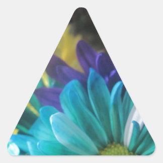 Jardín floral pegatinas triangulo