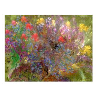 Jardín floral postal