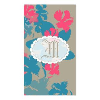 Jardín floral tarjetas de visita