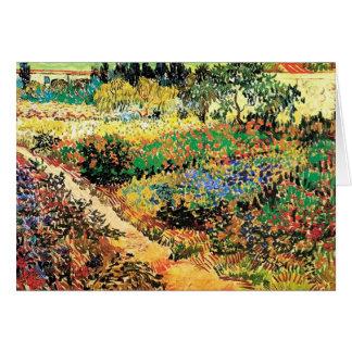 Jardín floreciente con la trayectoria, Vincent van Tarjetón