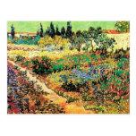 Jardín floreciente con la trayectoria, Vincent van Postal