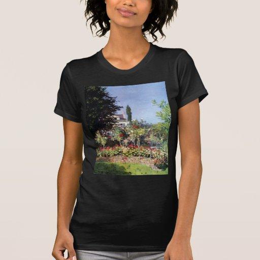 Jardín floreciente de Claude Monet Camisetas